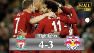 liverpool vs salzburg 4-3 highlights