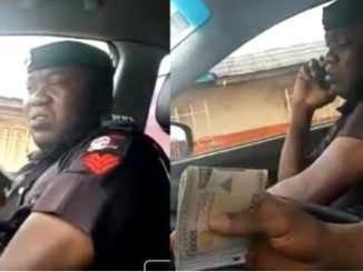 The Police Officer Caught On Camera Collecting Bribe Has Been Identified & Arrested