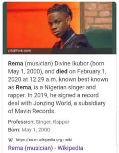Rema Is Not Dead, He Is Hale and Healthy