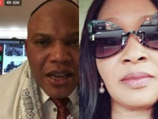 Death Claim: Nnamdi Kanu Shuts Kemi Olunloyo Up By Doing Live Video (Video)